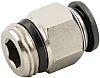 RS PRO Pneumatic Straight Threaded-to-Tube Adapter, R 3/8