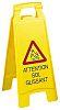 Brady Attention Sol Glissant Hazard Warning Sign (French)