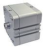 RS PRO Pneumatic Compact Cylinder 63mm Bore, 80mm
