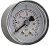 RS PRO Analóg pozitív nyomásmérő Hátsó bemenetű, külső Ø: 40mm, DKDCAL