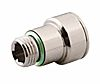RS PRO Pneumatic Quick Connect Coupling Nickel Plated