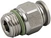 RS PRO Threaded-to-Tube Pneumatic Fitting R 1/8 to