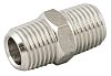 RS PRO Pneumatic Straight Threaded-to-Tube Adapter,