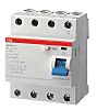 ABB 4 Pole Residual Current Circuit Breaker, 63A