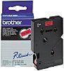 BROTHER Black on Red Label Printer Tape, 12