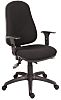 RS PRO Fabric Typist Chair Black