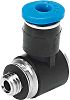 Festo Pneumatic Elbow Threaded-to-Tube Adapter, M5 Male, Push