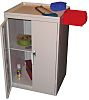 RS PRO 2 Door Steel Lockable Floor Standing Storage Cabinet, 930 x 600 x 500mm