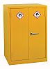 RS PRO Yellow Steel Lockable 2 Doors Hazardous