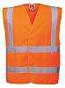 RS PRO Orange Breathable Hi Vis Vest, L