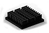 Heatsink, Universal Square Alu, 25 x 25 x 7mm