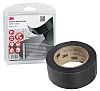 3M 4411N Ionomer Black Duct Tape, 50mm x