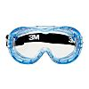 3M FAHRENHEIT, Scratch Resistant Anti-Mist Safety Goggles with Clear Lenses