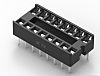TE Connectivity 2.54mm Pitch Vertical 16 Way, Through