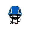 SecureFit™ Adjustable Blue Hard Hat with Chin Strap,