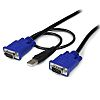 15 ft 2-in-1 Ultra Thin USB KVM Cable