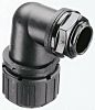 Adaptaflex M16 90° Elbow Cable Conduit Fitting, Black