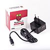 Raspberry Pi Raspberry Pi Power Supply, USB Type C with EU Plug Type, 1.5m