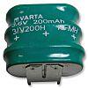 Varta 3.6V Button Rechargeable Battery, 210mAh