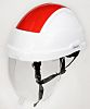 Sibille Adjustable Red, White Helmet with Chin Strap