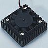 Heatsink, Universal Square Alu with fan, 1.6K/W, 43.1