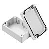 RS PRO Light Grey Polycarbonate Enclosure, IP68, 105