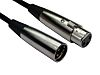 RS PRO XLR Cable Assembly 500mm Black Male