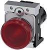 Siemens, SIRIUS ACT Red LED Indicator, 22mm Cutout,
