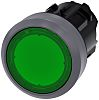 Siemens Push Button, 22.3mm Cutout SIRIUS ACT Series