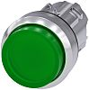 Siemens Green Push Button Head - Momentary, SIRIUS