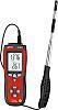 RS PRO DT-8880 Anemometer, 0,10-25,00 m/s Luftstrøm, lufthastighed, temperatur