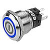 EAO CO Momentary Blue LED Push Button Switch,