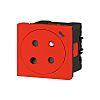 Legrand Red 1 Gang Plug Socket, 16A, French