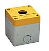 RS PRO Grey/Yellow ABS Push Button Enclosure -