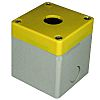Electrical Enclosure Yellow Lid 1 Hole 7