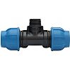 Georg Fischer 90° 90° Tee PVC Pipe Fitting,