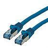 Roline Shielded Cat6a Cable 10m, LSZH, Blue, Male