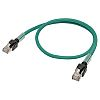 Omron Cat6a Cable 300mm, LSZH, Green, Male RJ45