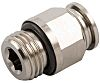 RS PRO Threaded-to-Tube Pneumatic Fitting G 3/8 to