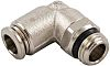 RS PRO Threaded-to-Tube Pneumatic Elbow Fitting Uni 3/8
