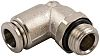 RS PRO Threaded-to-Tube Pneumatic Elbow Fitting G 1/4