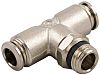 RS PRO Threaded-to-Tube Pneumatic Fitting Push In 10