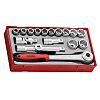 Teng Tools TT1218 18 Piece Socket Set, 1/2
