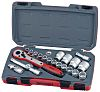 Teng Tools T1221 21 Piece Socket Set, 1/2