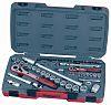 Teng Tools T1272 72 Piece Socket Set, 1/4