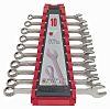 Teng Tools 10 Piece Chrome Vanadium Spanner Set