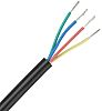 RS PRO 4 Core Unscreened Industrial Cable, 0.5 mm² (Defence Standard 61-12 Part 5) Black 25m Reel