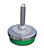 FIBET Adjustable Levelling Foot ZAL8035V120 M12 98mm, 80mm