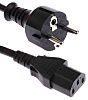 RS PRO 3m power cord, C13, IEC to