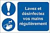 RS PRO PVC Mandatory Hygiene Sign With French
